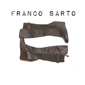 Franco Sarto brown Knee High Wedge Boots